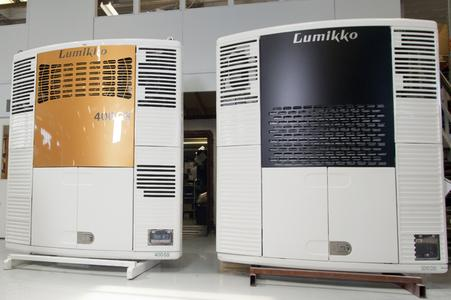 Combined with the best airspeed output on the market, the high refrigeration and heating power of the Lumikko 400GS trailer solution (on the left) ensures an even temperature throughout the space.