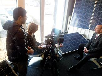Filmteam aus Japan bei B5 Solar