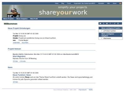 Projekteinladungen - Projektnachrichten - News! Alles auf einen Blick