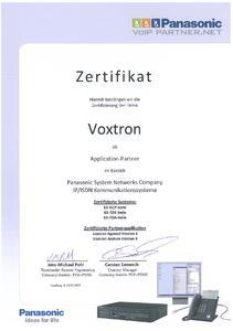 Voxtron ist erneut von Panasonic System Networks Europe zertifiziert