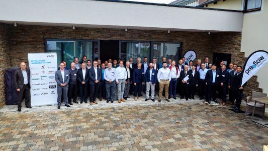 Die Teilnehmer des preeflow Händlermeetings 2019.