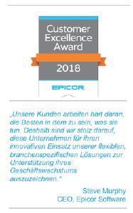 Epicor Customer Excellence Award