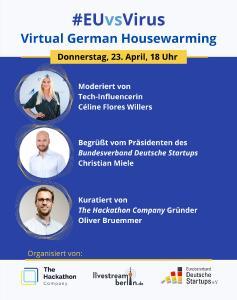 EU-Hackathon Virual Housewarming am 23. April 2020 um 18:00 Uhr