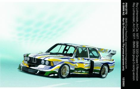 Roy Lichtenstein, Art Car, 1977 - BMW 320i Gruppe 5 Rennversion