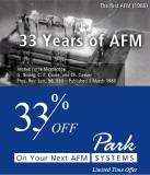 33 Years of AFM – 33% OFF on your NEXT AFM