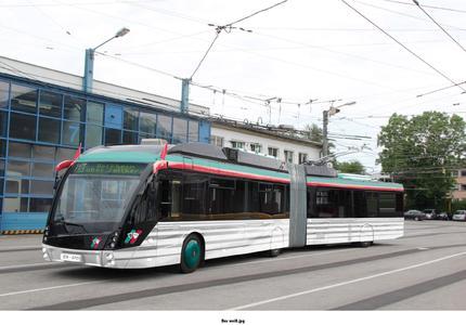 Esslingen.SVE Hybrid Bus Grün Weiß