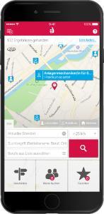 """Lehrstellensuche leicht gemacht - mit der neu gestalteten App """"Lehrstellenradar"""", /Quelle: ODAV AG"""