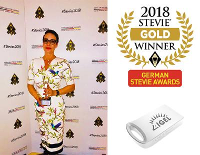 Der IGEL UD Pocket gewinnt den German Stevie Award in Gold