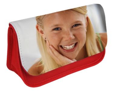 Pencil case with photo lid