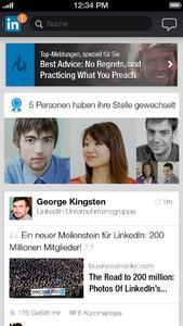 LinkedIn-App mit neuen Funktionen für iPhone und Android