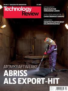 Das Titelbild der aktuellen Technology Review-Ausgabe 7/2009