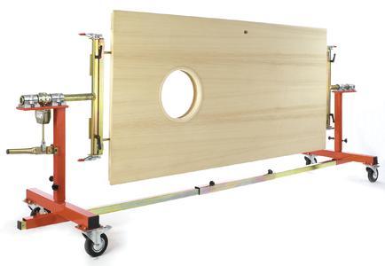 doormaster® work station  for 360° rotation of heavy doors