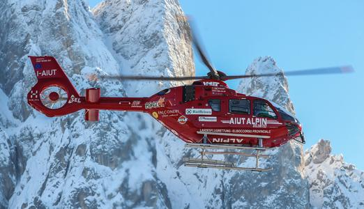 Airbus Helicopters' first enhanced EC135 T3/P3 enters service with Aiut Alpin Dolomites in high-altitude rescue operations. © Copyright Airbus Helicopters, Charles Abarr