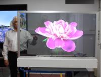 New: Large, transparent OLED display for extraordinary presentations