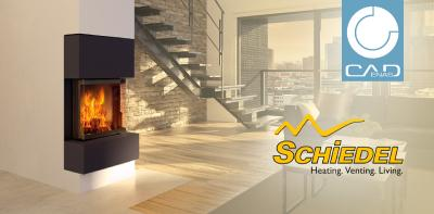 Schiedel expands its 3D BIM CAD data library by CADENAS in the sector of stove and heating systems