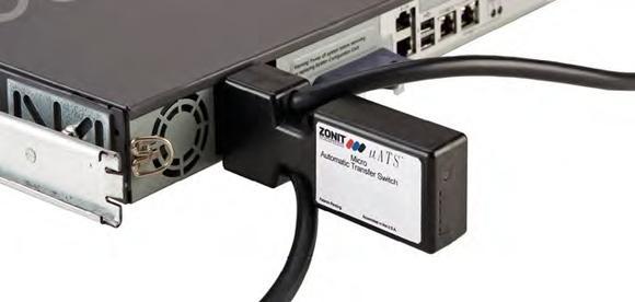 Ausfallschutz und redundante Stromversorgung mit der platzsparenden 1-Port-Variante des Zonit Transfer Switches.