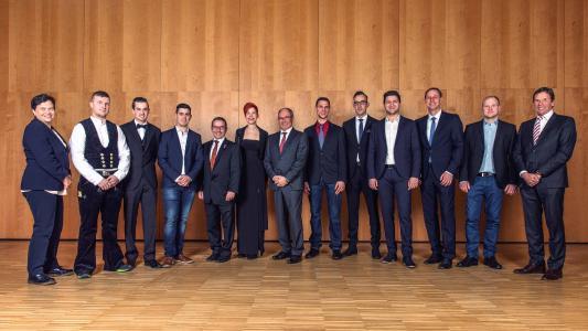 Die Förderpreisträger gemeinsam mit den Förderpreisstiftern