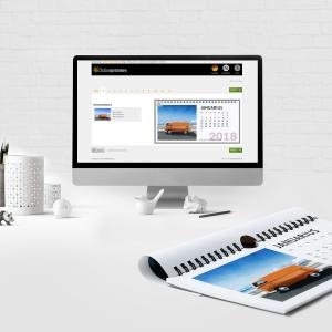 "Onlineprinters offers the ""web-to-print"" tool for customers who don't have their own professional design software. The tool is now available for various calendar designs, Copyright: Onlineprinters GmbH"