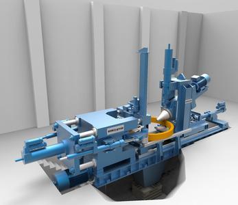 Modell der neuen RAW ecompact® zur energieeffizienten Produktion von Ringen mit rechteckigem Querschnitt