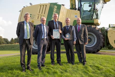 From l. to r.: Mr Wolfgang Bellon (Krone), Mr Georg Sasse (Krone), Mr Dietmar Caspers (STW), Mr Klaus Gnahm (STW), Dr. Uwe Hansult