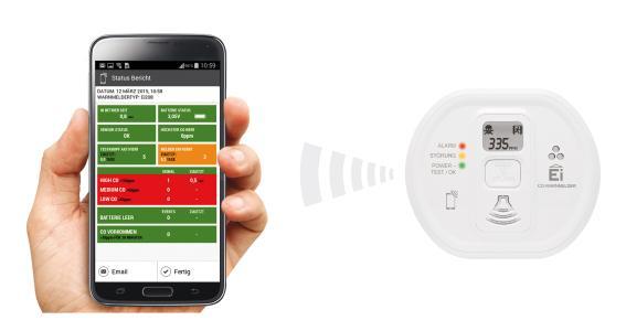 """Mit der Audiolink-Technologie kann das """"Gedächtnis"""" des Melders bequem über das Smartphone ausgelesen werden"""