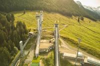 Sensationeller Weltrekord auf der Schattenbergschanze 26.9.2020 Hier entstand das längste digital gedruckte Bild mit 109,4 Metern. Gedruckt auf dem Canon PRO-6100