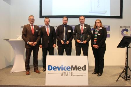Die Gewinner der DeviceMed-Awards zur Compamed 2015 (Fotohinweis: Vogel Business Media)