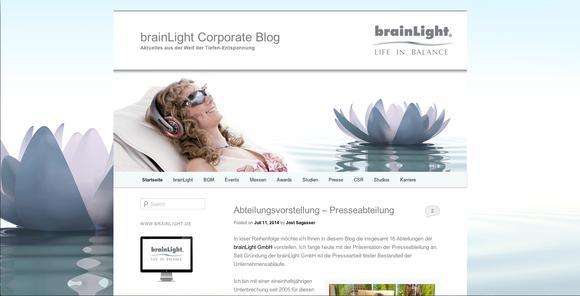 Bildschirmfoto Corporate Blog
