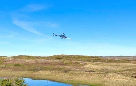 Helikopter über Cape Ray; Quelle: Matador Mining