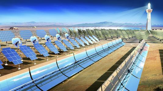 Das Produktportfolio von Schaeffler bietet für jede Solaranwendung, egal ob in der Solarthermie oder der Photovoltaik, die passende Lagerlösung. Schaeffler ist zudem wichtiger Entwicklungspartner und Zulieferer in Projekten für Parabolrinnen-, Solarturm-,  Dish-Stirling- und Fresnel-Kraftwerken, Foto: Schaeffler