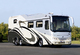 Luxury coach on bus chassis: 3 axles, 450 HP, 3 slide outs, gar garage, 25 t GVWR