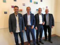 v. l. Horst-Dieter Kassl, Norbert Klettner, Till Vieregge und Prof. Dr. Holger Schütt. Foto: akquinet AG