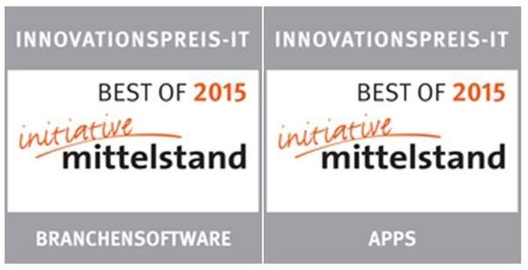 """""""Best-Of"""" Innovationspreis-IT 2015 für pds Software und Service App"""