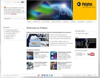 Polytec Homepage in neuem Look