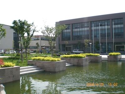 production building (left), administration building (right)