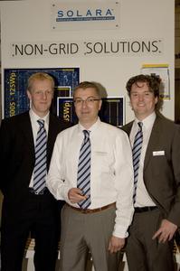 Das NGS-Team der Centrosolar AG: v.l.n.r.: Frank Heise, Walther Grauenholz, Danilo Zithier