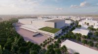 3D Visualisierung des zukünftig erweiterten Logistikzentrums in Nagold. Copyright: Häfele.