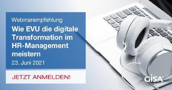 Melden Sie sich jetzt an zum Webinar: Wie EVU die digitale Transformation im HR-Management meistern