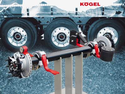 The Kögel KTA trailer axle