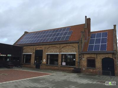 PV system on city building in Middelkerke