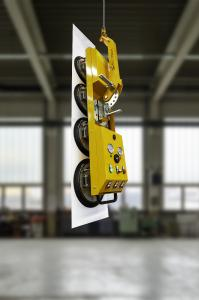 The lifting device eT-Hover-univac-line is suitable for lifting and moving surface loads of various materials