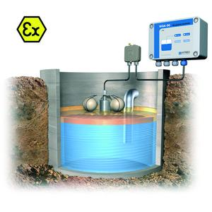 WGA 06 alarm unit by AFRISO-EURO-INDEX: Alarm at a layer of 15 mm thickness - before the pollutants can reach the sewage water system