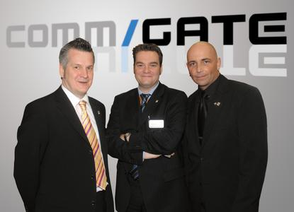 Die Initiatoren des Commgates: Thomas Wythe, Jörg Schmitt, Alexander Dort (v.l.n.r)