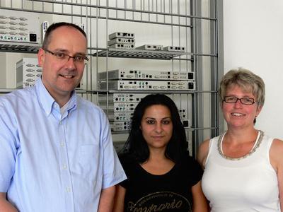 Bilisim fair team, left to right: Roland Ollek, Guelten Kaya and Anke Hartrumpf