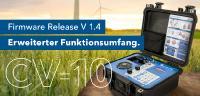 Stark erweiterter Funktionsumfang durch Firmware Update für das CV-10 von SPEKTRA