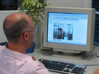 Users can check the status of the robot directly from their desk