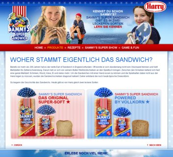 Sammy's Super Site - Produkte