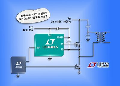 High Side, High Frequency MOSFET Gate Driver Features
