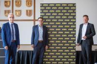 Toni Vetrano, Oberbürgermeister Kehl und Stv. Aufsichtsratsvorsitzender der WRO; Klaus Muttach, Oberbürgremeister Achern und Aufsichtsratsvorsitzender der WRO; Frank Scherer, Landrat des Ortenaukreises und WRO-Aufsichtsratsmitglied.