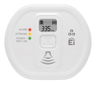Ei207D Ei208D Kohlenmonoxidwarnmelder mit Display, Bild: Ei Electronics